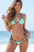 Sedona Mint & Black Triangle Top & Micro Rise Sexy Polka Dot Bikini