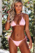 Baby Pink Triangle Top & Baby Pink Brazilian Thong Bottom