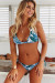 Tropical Palm Adjustable Halter Top & Tropical Palm Print Classic Scrunch Bottom