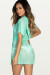 Afterparty Mint Mesh Hooded Cinch Waist Beach Cover Up