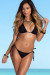 Palm Beach Sexy Solid Black Triangle Top Thong String Bikini