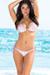 Vegas Lilac & Baby Pink Triangle Top RISE Rise Scrunch Bun® Sexy Sequin Bikini
