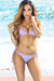 Bali Lilac Shimmer Triangle Top Single Rise Scrunch Sexy Rhinestone Ring Bikini