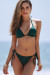 Hunter Green Triangle Top & Hunter Green Full Coverage Scrunch Bottom