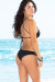 Cassia Black Lattice Cut Out High Neck Halter Bikini Set