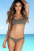 Taupe Morning Glory Bikini Top & Taupe Wildflower Bikini Bottoms