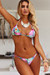 Purple Tropical Pineapple Triangle Top & Purple Tropical Pineapple Full Coverage Scrunch Bottom