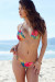 Sunset Tropical Print Triangle Top & Sunset Tropical Print G-String Thong Bottom