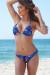 Ibiza Brazilian Cut Midnight Tropical Print Triangle Top Sexy Thong Bikini
