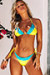 Yellow Triangle Blue Edge Lace Top & Yellow & Blue Edge Lace Classic Bottom