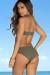 Taupe Cactus Flower Bikini Top & Taupe Marigold Bikini Bottoms