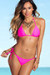 Palm Beach Sexy Solid Hot Pink Triangle Top Thong String Bikini