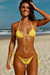 Hyacinth Yellow Bikini Top & Hibiscus Yellow Bikini Bottoms