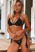Lemongrass Black Bikini Top & Hibiscus Black Bikini Bottom