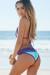 Maui Mint & Orchid Triangle Top Scrunch Bottom Sexy Lace Bikini Swimsuit