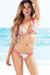 Tahiti Reversible Fuchsia & Retro Floral Print Sexy Micro Bikini Swimsuit