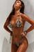 Laguna Black Palm Classic Bikini Top & Venice Black Palm Mid Rise Classic Bikini Bottom