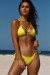 Yellow Double Strap Center Loop Triangle Top & Yellow Side Loops Classic Scrunch Bottom