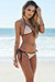 Vegas Blush & Black Triangle Top Single Rise Scrunch Bun® Sexy Sequin Bikini