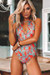 Heather Fern Keyhole Halter One Piece Swimsuit