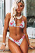 English Rose Triangle Top & English Rose Banded Brazilian Thong Bottom