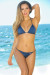 Oahu Bikini on a Chain™ Navy Triangle Top & Single Rise Scrunch Bottom