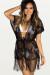 Angel's Delight Black Butterfly Net Mesh Fringe Bikini Cover Up