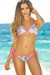 Vegas Party Sequin & Neon Pink Triangle Top Single Rise Scrunch Bun® Bikini