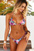 Lilac Tropical Triangle Top & Lilac Tropical Full Coverage Scrunch Bottom