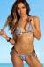 Tribal & Black Classic Bikini Top & Palm Beach Tribal & Black Classic Thong Bikini Bottom