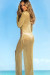 Bottega Gold Long Sleeve Maxi Dress Cover Up