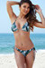 Surfside Sexy Tropical Palm Print Triangle Top Single Rise Scrunch Bun® Bikini