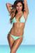 Mint Triangle Top & G-String Thong String Bikini