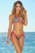 Vegas Silver & Fuchsia Triangle Top Single Rise Scrunch Bun® Sexy Sequin Bikini