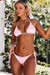 Baby Pink Triangle Top & Baby Pink Classic Scrunch Bottom