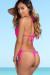Palm Beach Sexy Solid Hot Pink Triangle Top Thong String Bikini
