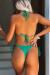 Emerald Triangle Top & Emerald Brazilian Thong Bottom