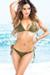 Laguna Solid Olive Triangle Bikini Top & Classic Scrunch Bottom Swimsuit