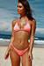 Laguna Solid Salmon Triangle Bikini Top & Single Rise Scrunch Bottom Swimsuit