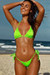 Venice Neon Green Triangle Bikini Top & Sexy Cheeky Micro Scrunch Bottom Swimsuit