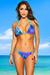 Belize Reversible Swimwear Aqua & Fantasy Print Sexy Single Rise Bikini