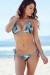 Sexy Tropical Palm Print Triangle Top & G-String Thong String Bikini