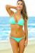 Oahu Bikini on a Chain™ Mint Green Triangle Top & Single Rise Scrunch Bottom
