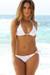 Laguna Solid White Triangle Top Bikini with Sexy Classic Scrunch Bottom