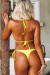 Neon Yellow Triangle Top & Neon Yellow Brazilian Thong Bottom