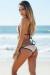 Vegas Blush & Black Triangle Top Single Rise Scrunch Bun® Sexy Sequin Bikini