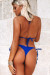 Royal Blue Triangle Top & Royal Blue Brazilian Thong Bottom