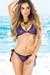 Vegas Black & Sapphire Triangle Top Single Rise Scrunch Bun® Sexy Sequin Bikini