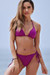 Plum Triangle Top & Plum Full Coverage Scrunch Bottom
