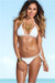 Palm Beach Sexy Solid White Triangle Top Thong String Bikini